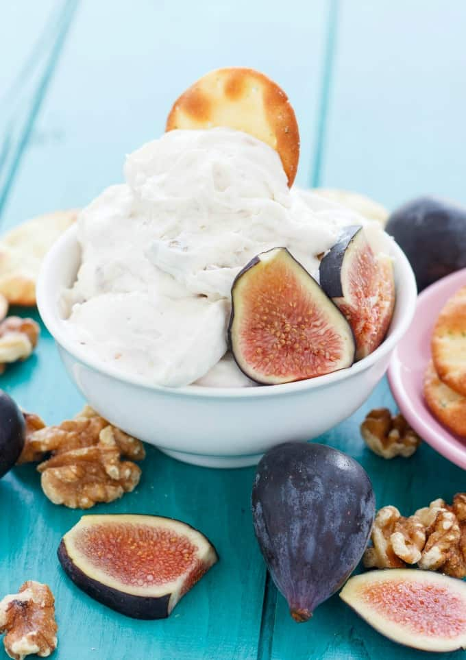 Farm Boy Fig and Walnut Cream Cheese Dip Copycat Recipe #vegetarian