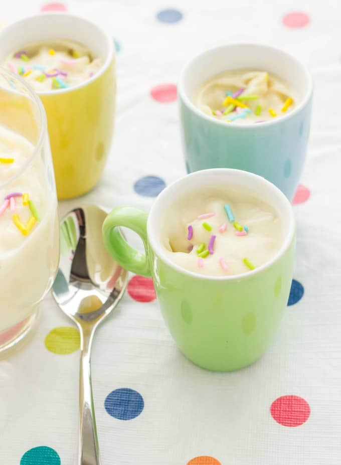 Homemade Birthday Cake Pudding #dessert