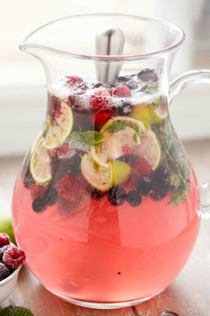 Mixed Berry Mojitos #drink