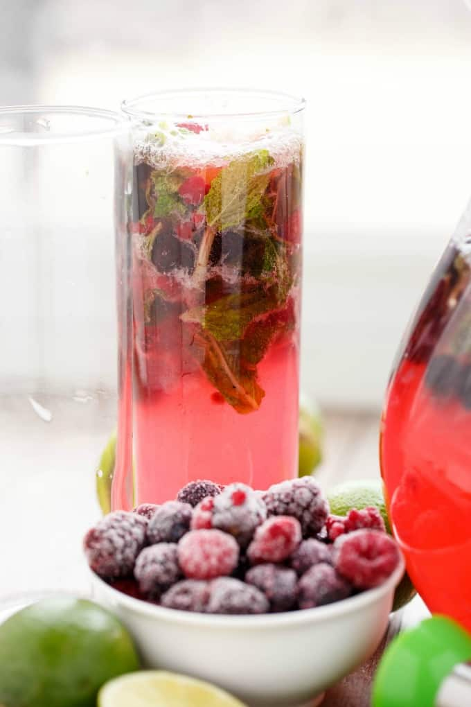 Mixed Berry Mojitos #mojitos
