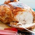 BBQ Whole Chicken with Rhubarb BBQ Sauce (No Beer Can) #glutenfree