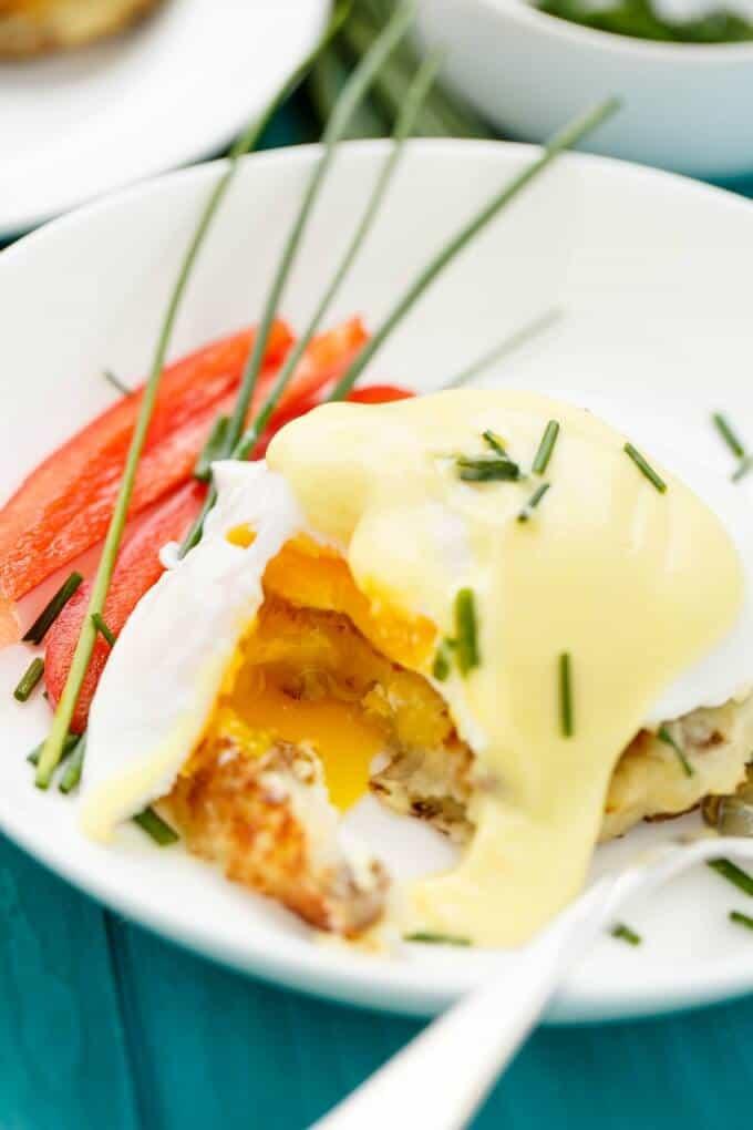 Eggs Benedict over Potato Pancakes #gourmet