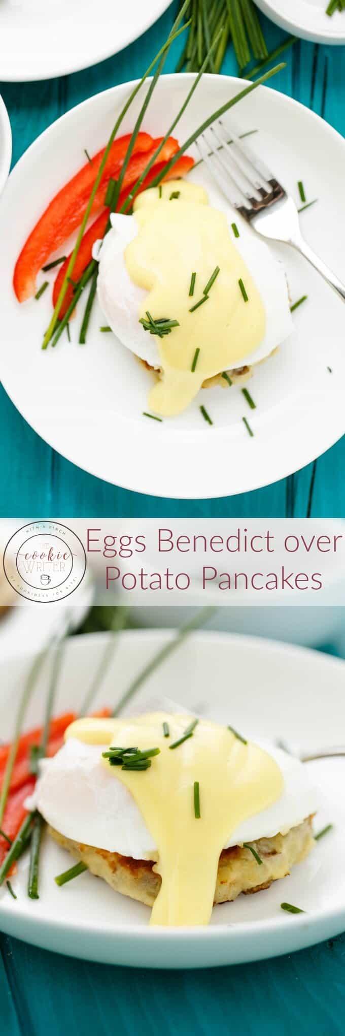 Eggs Benedict over Potato Pancakes