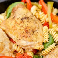 One Pan Chicken Pasta on the BBQ