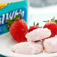 Three Ingredient Strawberry Frozen Bites