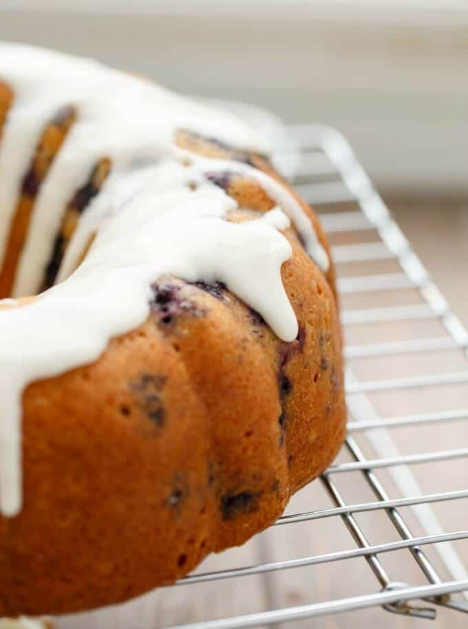 Blueberry Boy Bait Bundt Cake with Toasted Coconut #blueberries