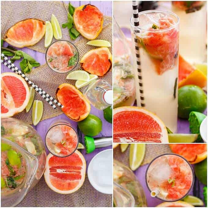 Broiled Grapefruit Mojitos