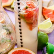 Broiled Grapefruit Mojitos (Grilled Mojitos)
