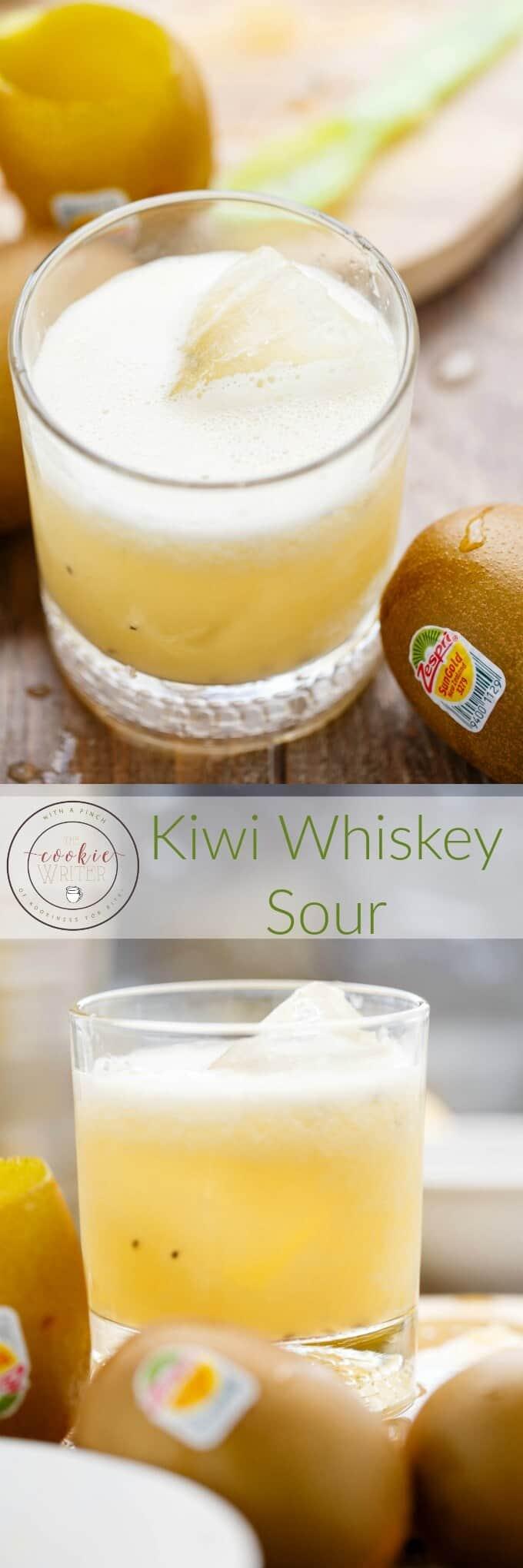 Kiwi Whiskey Sour