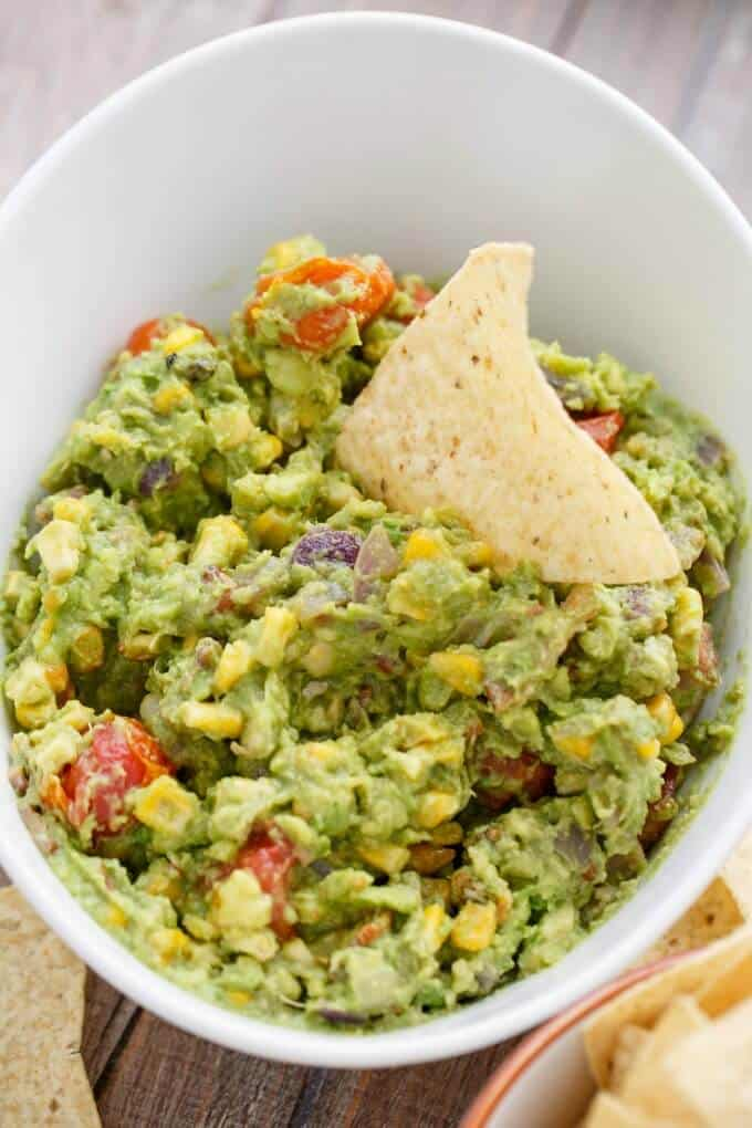 Roasted Guacamole with Bacon #glutenfree
