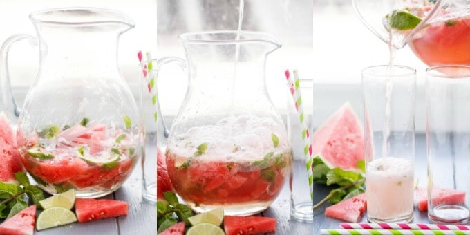 Watermelon Mojitos #pouring