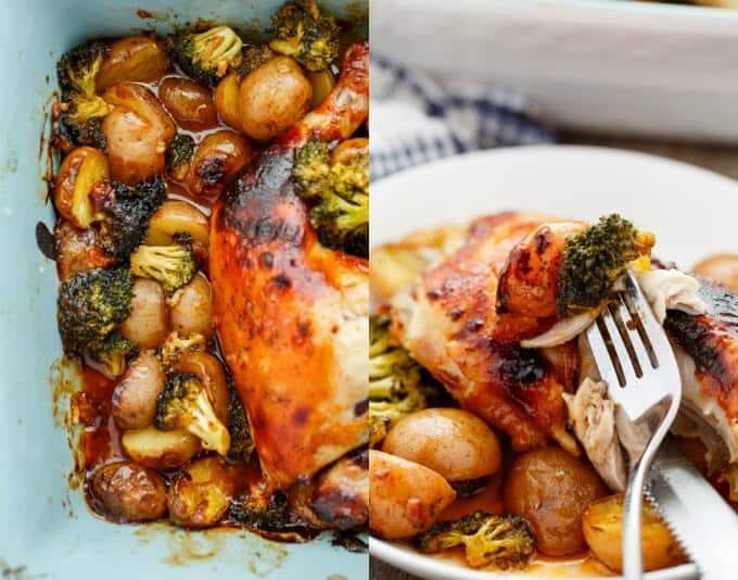 General Tso's Potatoes and Chicken #glutenfree