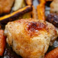 Greek Dressing Chicken Thighs with Carrots