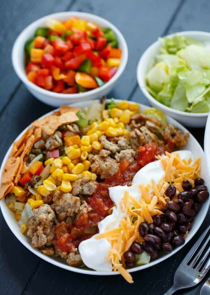 Ground Turkey Taco Salad #salad