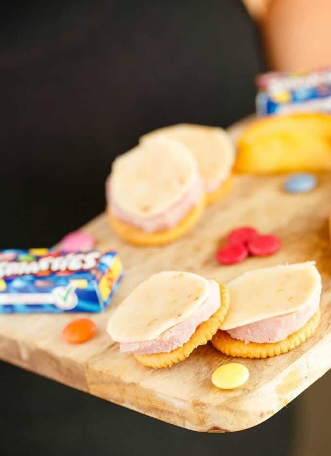 Homemade Lunchables with Ham #lunchables