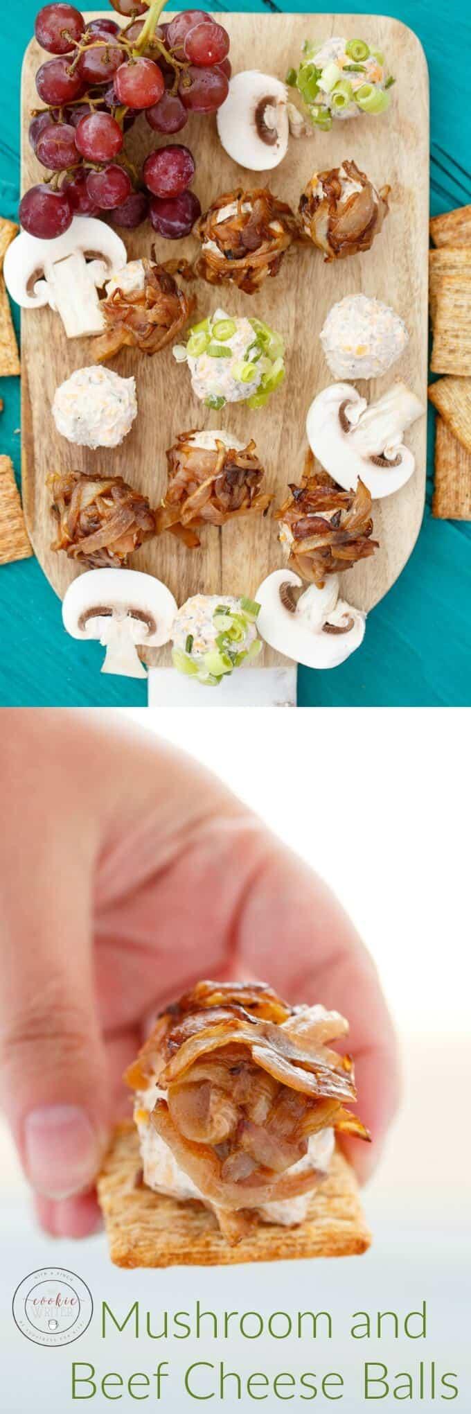 Mushroom and Beef Cheese Balls (Mini Style!)