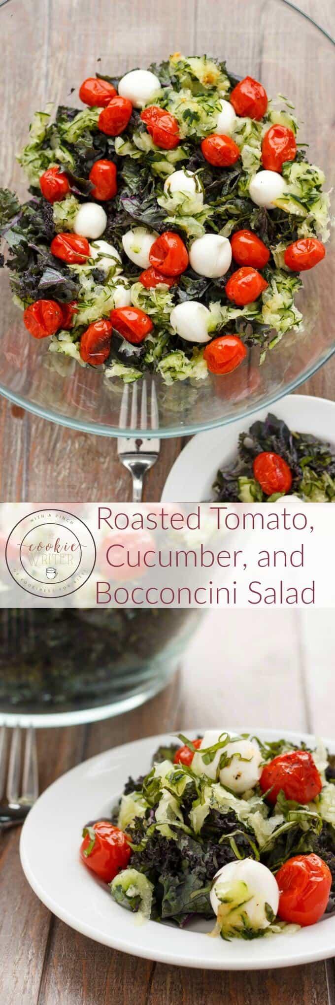 Roasted Tomato, Cucumber, and Bocconcini Salad