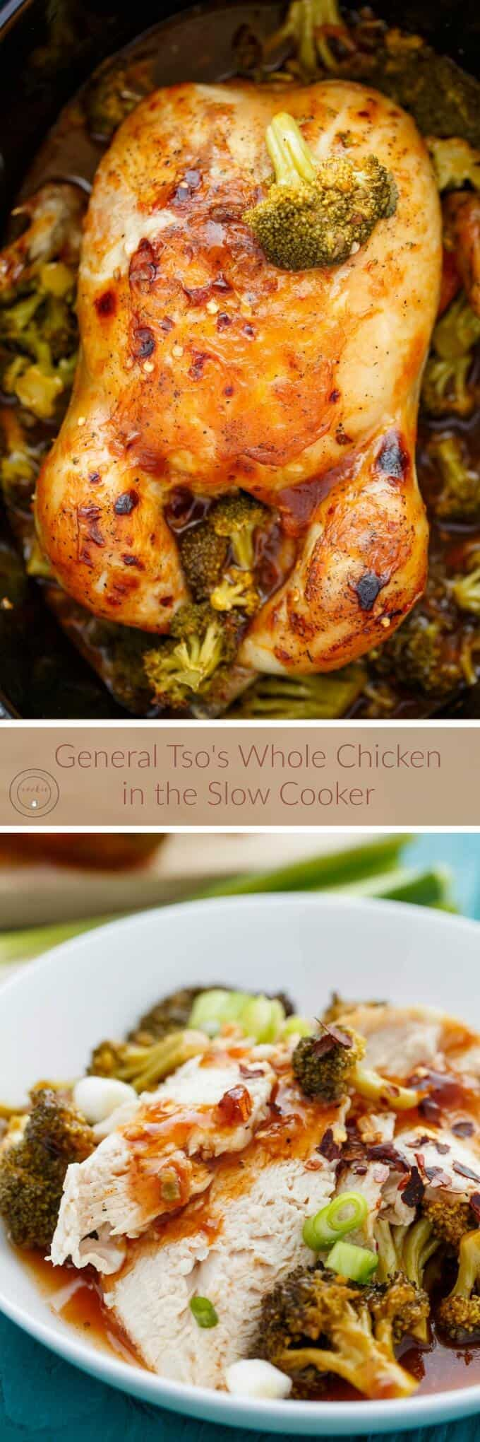 General Tso's Whole Chicken in the Slow Cooker