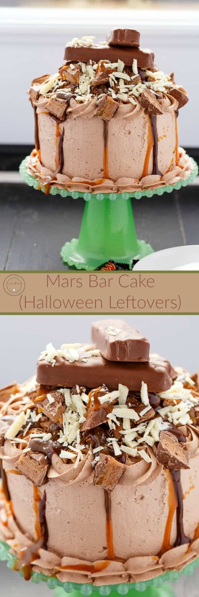 Overloaded Mars Bar Cake (Halloween Leftovers)