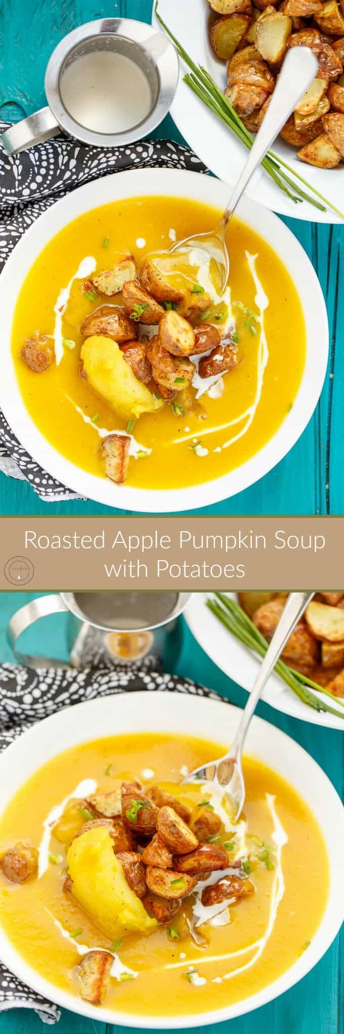 Roasted Apple Pumpkin Soup with Potatoes