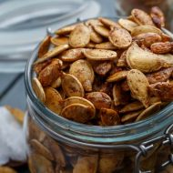 Coconut Oil Roasted Pumpkin Seeds