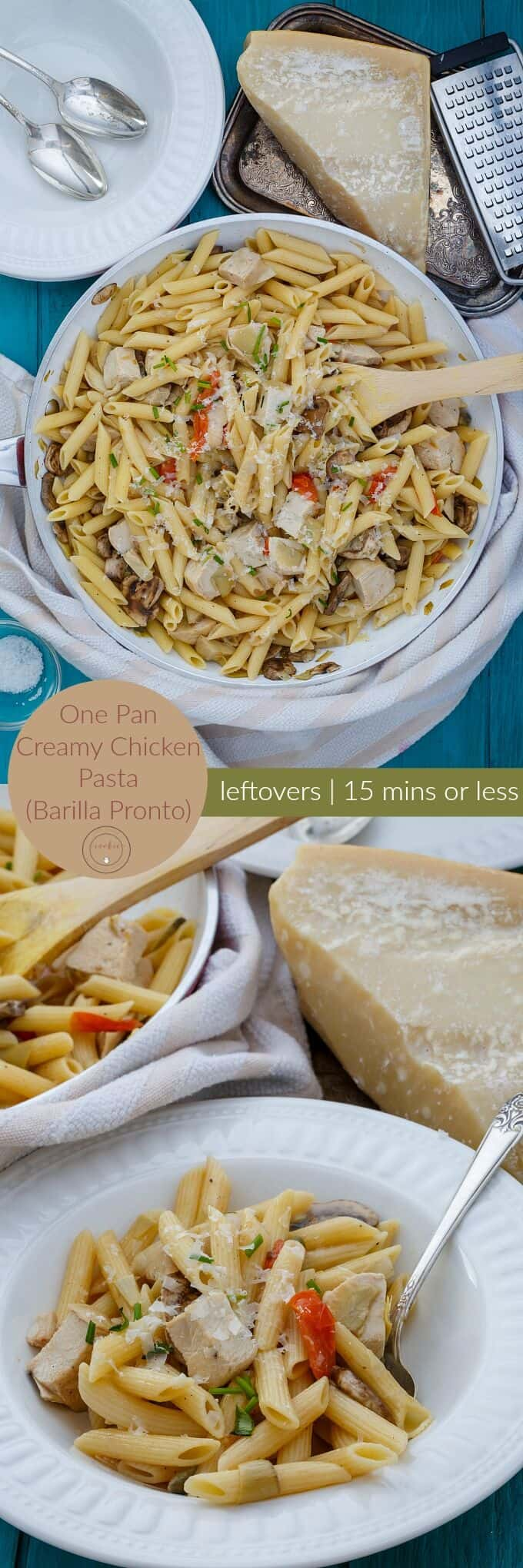One Pan Creamy Chicken Pasta (Barilla Pronto)