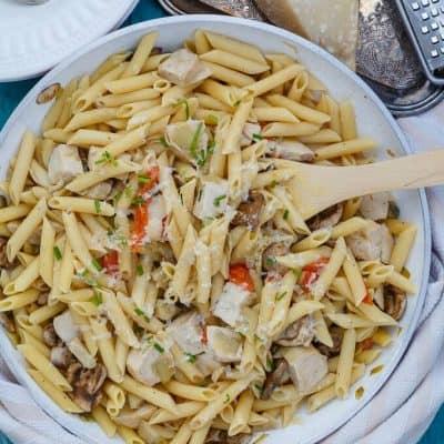 One Pan Creamy Chicken Pasta (Barilla Pronto)