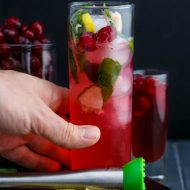 Christmas Cranberry Mojitos (or any season!)