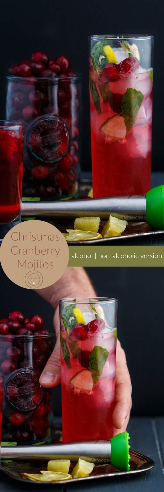 Christmas Cranberry Mojitos