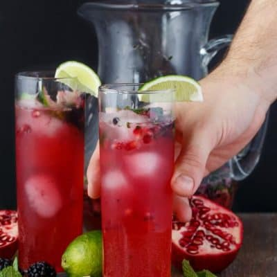 Pomegranate Blackberry Mojitos