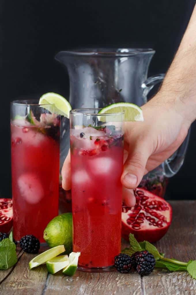 Pomegranate Blackberry Mojitos - The Cookie Writer