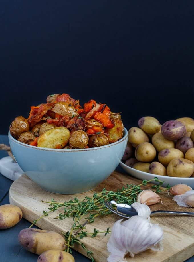 Roasted Bacon Thyme Potatoes