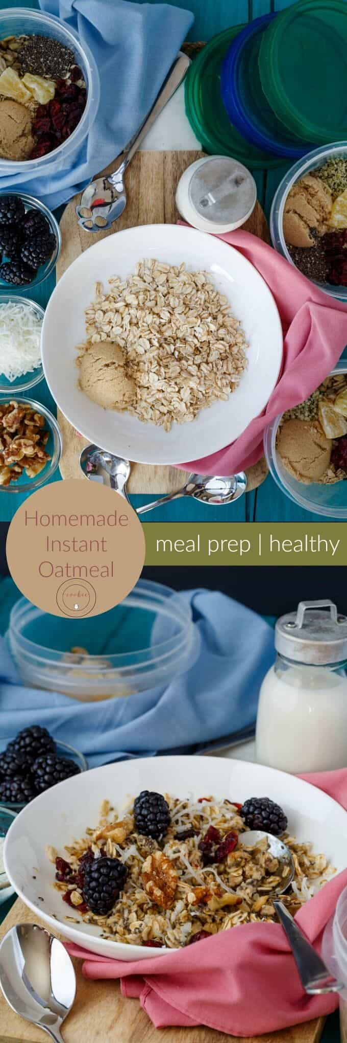 Homemade Instant Oatmeal (Meal Prep) - The Cookie Writer