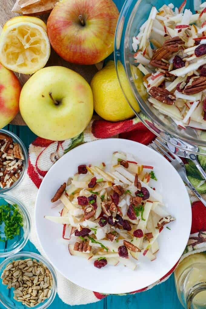 Raw Apple Salad (Vegan & GF)