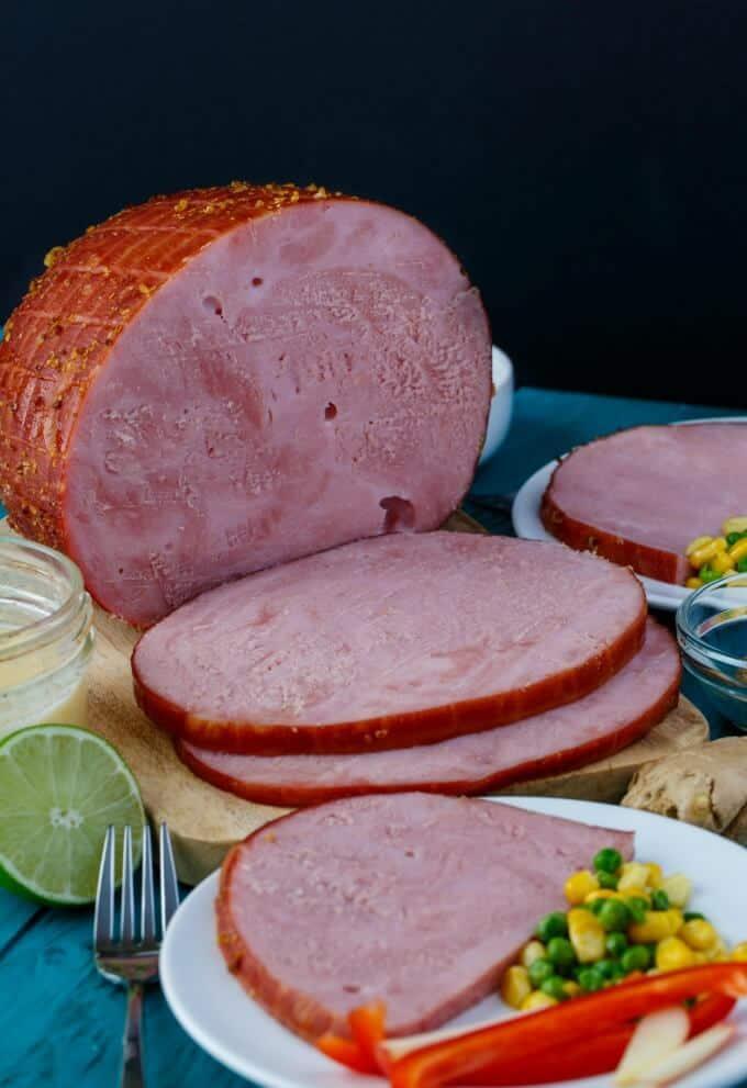 Slow Cooker Honey-Garlic Ham