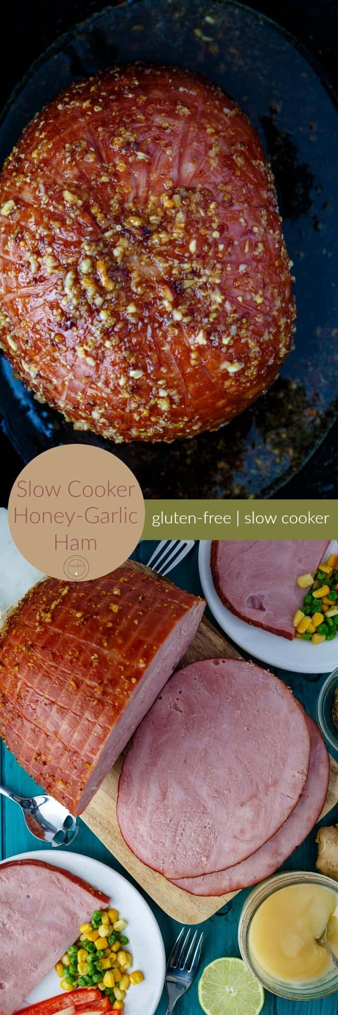 Slow Cooker Honey-Garlic Ham