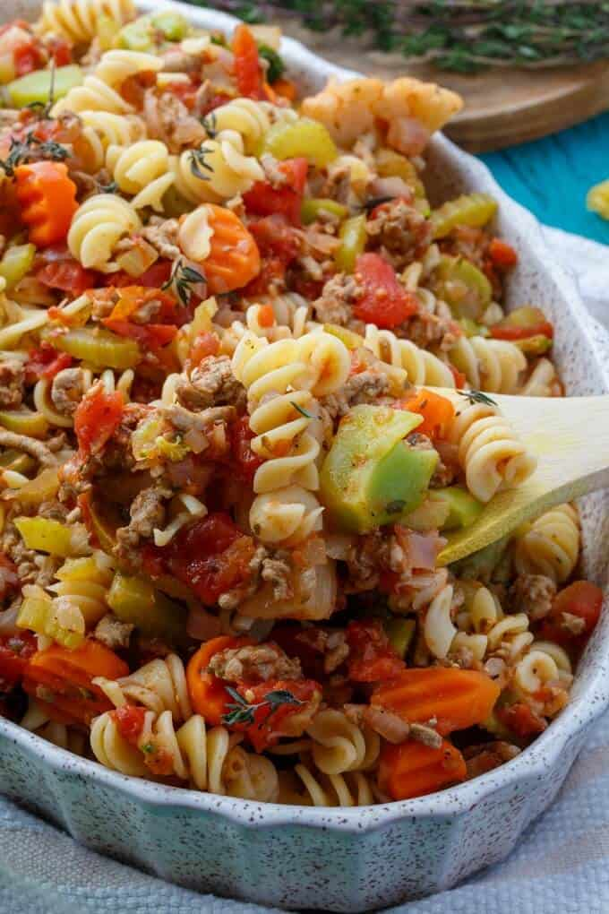 Loaded Vegetable Pasta Casserole