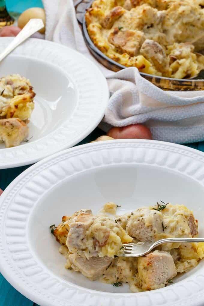 Mashed Potato Chicken Pie