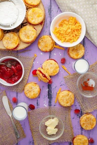 Cheesy Leftover Cranberry Sauce Cookies
