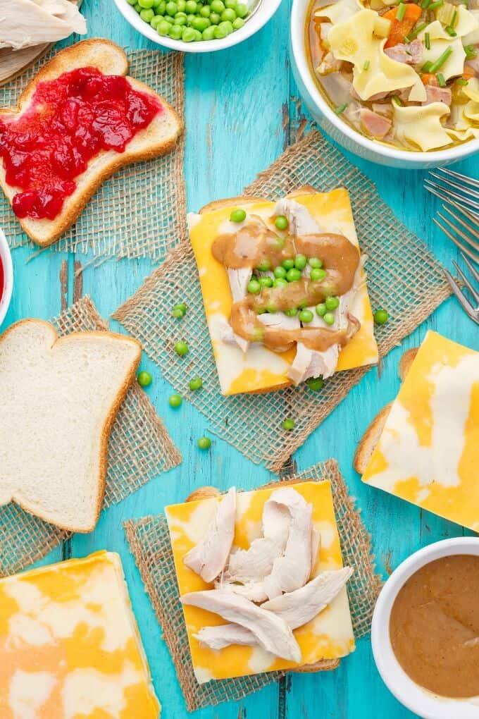 Open-Faced Turkey Sandwiches (Using Leftover Turkey)