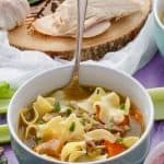 Turkey Noodle Soup (Using Leftover Turkey)