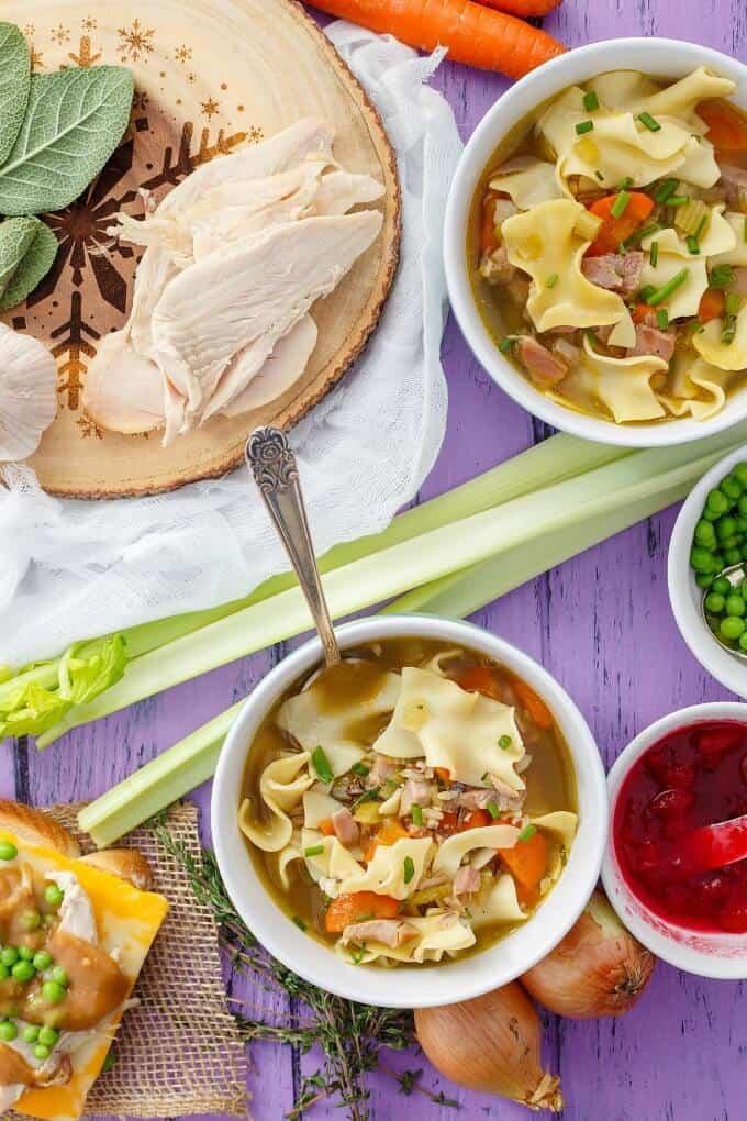 Turkey Noodle Soup (Using Leftover Turkey)