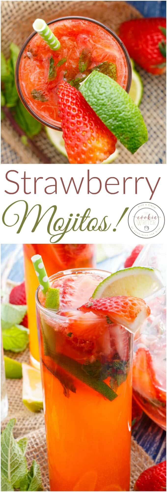 Fresh Strawberry Mojitos