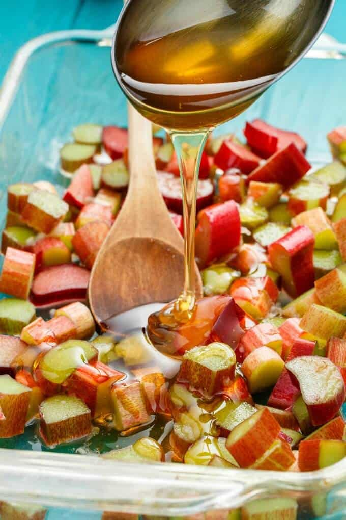 Honey-Roasted Rhubarb Whiskey Sour