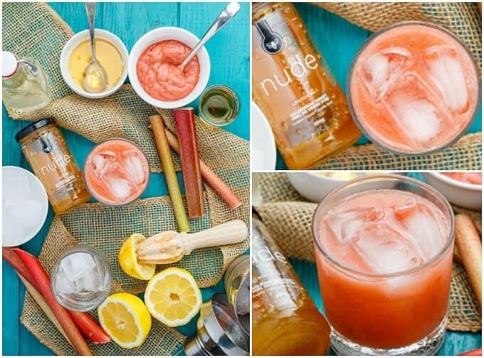 Honey-Roasted Rhubarb Whiskey Sour