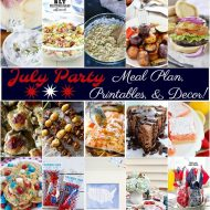 July Party Meal Plan with Printables & Decor!