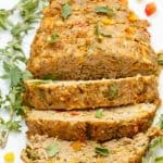Slow Cooker Turkey Meatloaf (Veggie Loaded!)