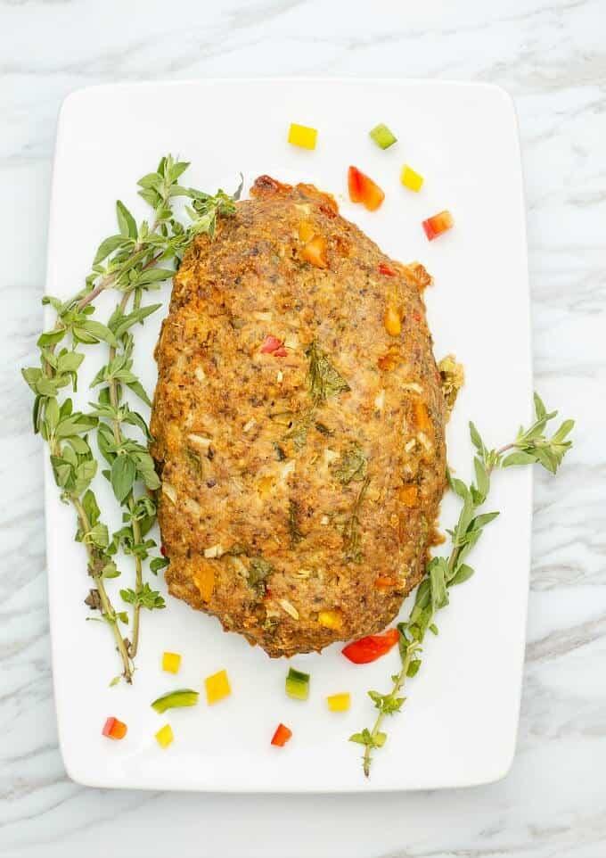 Slow Cooker Turkey Meatloaf (Veggie Loaded!)