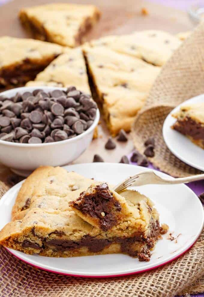 Giant Fudge Stuffed Cookie