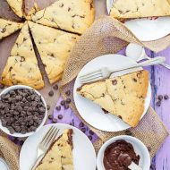 Giant Fudge Stuffed Cookie (Chocolate Chip Cookie)